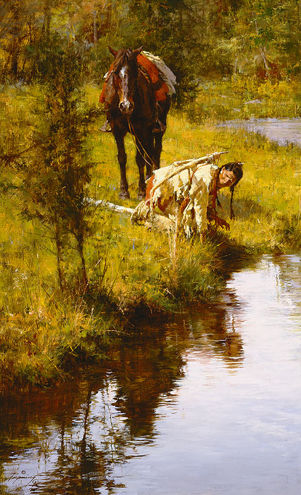 """Caution Born of Necessity"" by Howard Terpning"