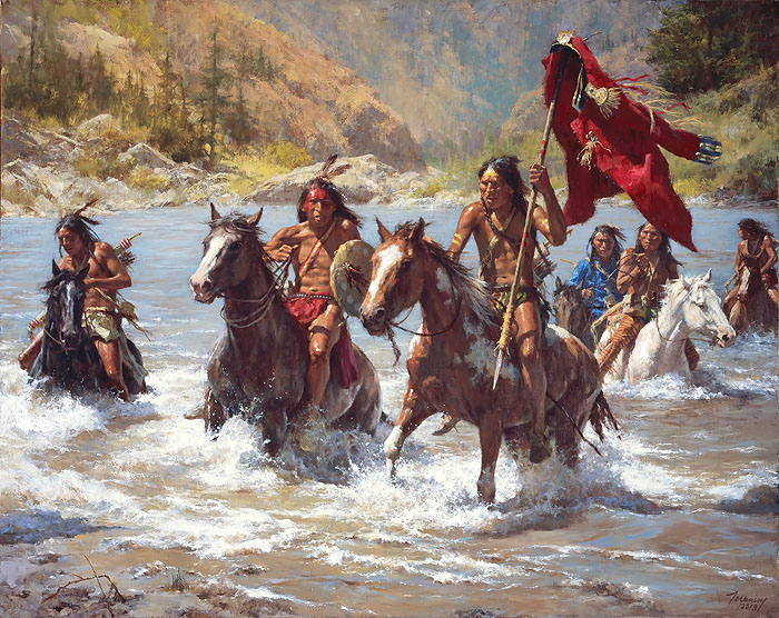 """Capturing the Chief's Coat"" by Howard Terpning"