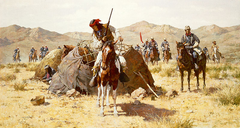 Howard Terpning - The Second Geronimo Campaign -  MASTERWORK CANVAS EDITION Published by the Greenwich Workshop