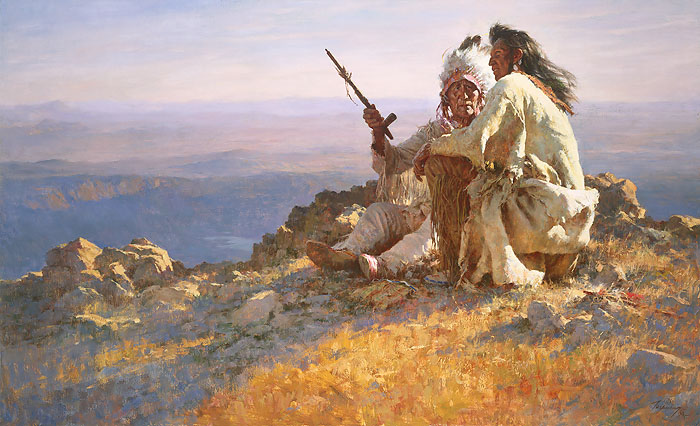 """Telling of the Legends"" by Howard Terpning"