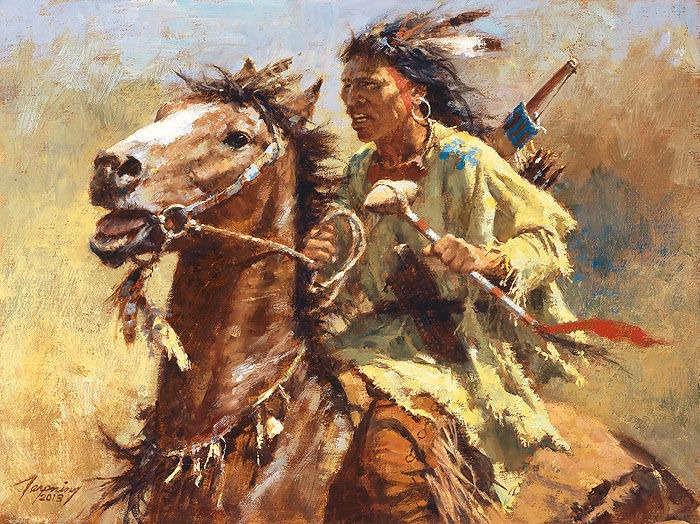 """War Chief"" by Howard Terpning"