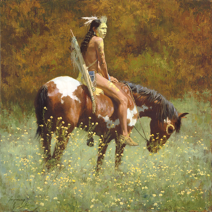 Howard Terpning - Color of Sun -  ANNIVERSARY CANVAS EDITION Published by the Greenwich Workshop