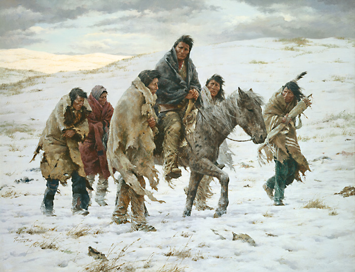 Howard Terpning - Chief Joseph Rides to Surrender -  ANNIVERSARY MUSEUMEDITION CANV Published by the Greenwich Workshop