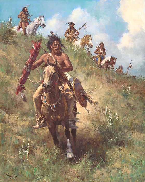 """""""The Honor of Being Pipe Carrier"""" by Howard Terpning"""
