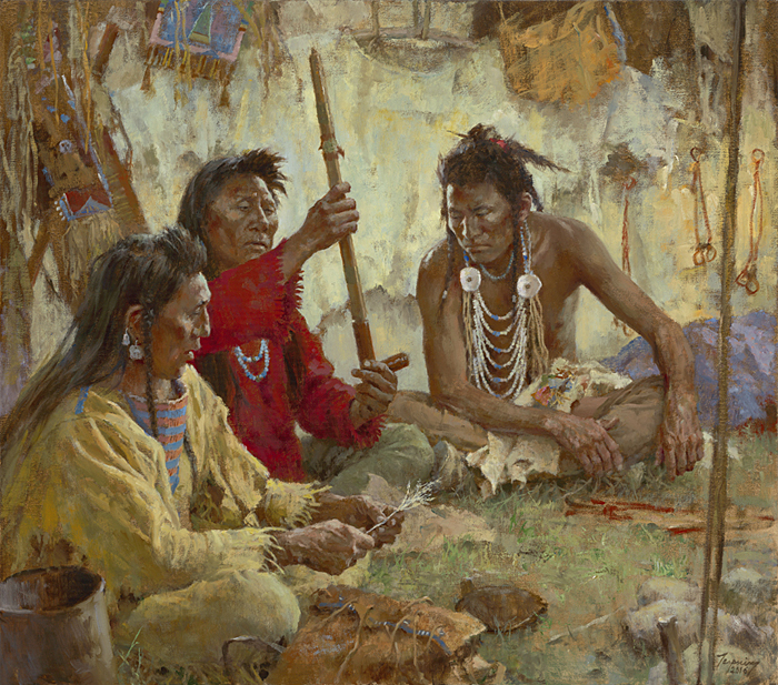 Howard Terpning - Seeking Guidance from the Great Spirit -  LIMITED EDITION CANVAS Published by the Greenwich Workshop