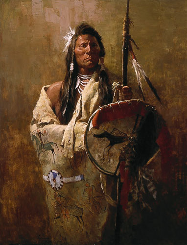 Howard Terpning - Status Symbols -  LIMITED EDITION CANVAS Published by the Greenwich Workshop