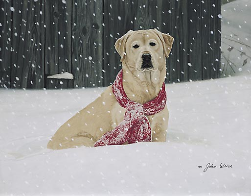 John Weiss - COLD NOSE WARM HEART -  LIMITED EDITION PRINT Published by the Greenwich Workshop