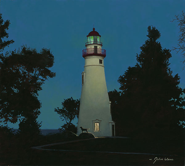 John Weiss - The Lighthouse Keeper -  LIMITED EDITION CANVAS Published by the Greenwich Workshop