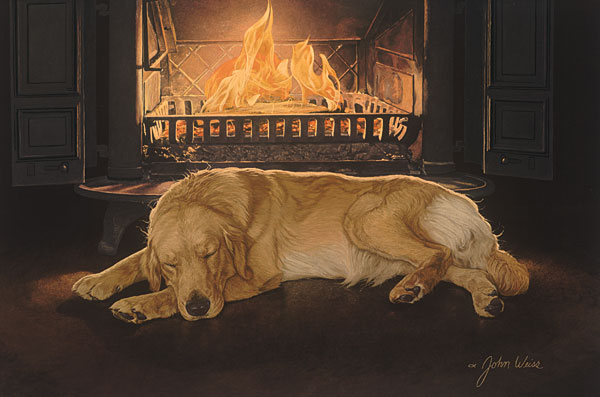John Weiss - A Feeling of Warmth -  ANNIVERSARY EDITION CANVAS Published by the Greenwich Workshop