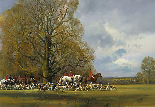 Frank Wootton - HUNTSMEN AND HOUNDS -  LIMITED EDITION PRINT Published by the Greenwich Workshop