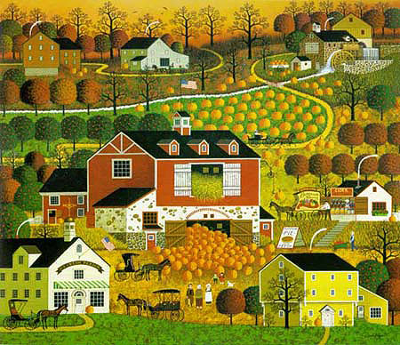 Charles Wysocki - BUTTERNUT FARMS -  LIMITED EDITION PRINT Published by the Greenwich Workshop