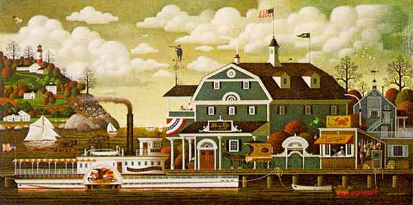 Charles Wysocki - FAIRHAVEN BY THE SEA -  LIMITED EDITION PRINT Published by the Greenwich Workshop
