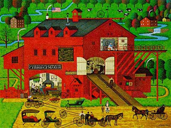 Charles Wysocki - CALEB´S BUGGY BARN -  LIMITED EDITION PRINT Published by the Greenwich Workshop