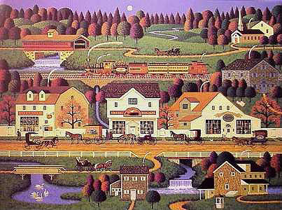 Charles Wysocki - YANKEEWINK HOLLOW -  LIMITED EDITION PRINT Published by the Greenwich Workshop