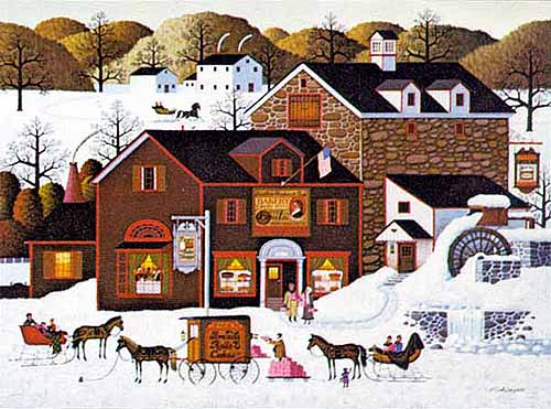 Charles Wysocki - PAGE´S BAKE SHOPPE -  LIMITED EDITION PRINT Published by the Greenwich Workshop