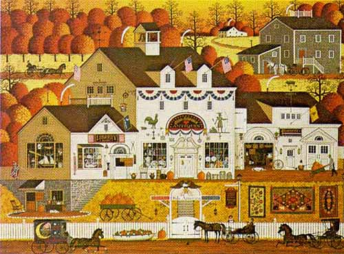 Charles Wysocki - OLDE AMERICA -  LIMITED EDITION PRINT Published by the Greenwich Workshop