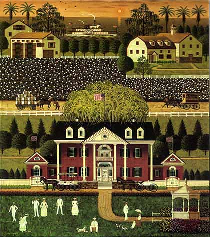 Charles Wysocki - COTTON COUNTRY -  LIMITED EDITION PRINT Published by the Greenwich Workshop