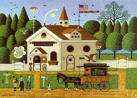 Charles Wysocki - THE BIRDHOUSE -  LIMITED EDITION PRINT Published by the Greenwich Workshop