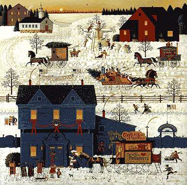 Charles Wysocki - A WARM CHRISTMAS LOVE -  LIMITED EDITION PRINT Published by the Greenwich Workshop