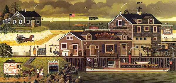 Charles Wysocki - DEVILBELLY BAY -  LIMITED EDITION PRINT Published by the Greenwich Workshop