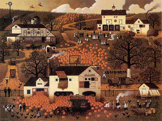 Charles Wysocki - DANCING PHEASANT FARMS -  LIMITED EDITION PRINT Published by the Greenwich Workshop