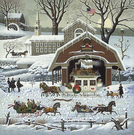 Charles Wysocki - ´TWAS THE TWILIGHT BEFORE CHRISTMAS -  LIMITED EDITION PRINT Published by the Greenwich Workshop