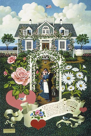 Charles Wysocki - HOME IS MY SAILOR -  LIMITED EDITION PRINT Published by the Greenwich Workshop