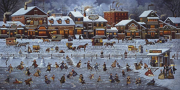 Charles Wysocki - BOSTONIANS AND BEANS -  LIMITED EDITION PRINT Published by the Greenwich Workshop