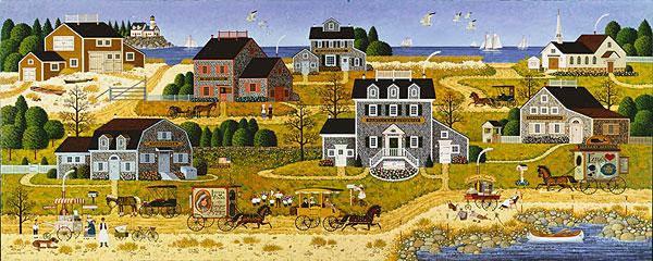 Charles Wysocki - Salty Witch Bay -  ANNIVERSARY EDITION CANVAS Published by the Greenwich Workshop