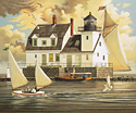 Rockland Breakwater Light<br> LIMITED EDITION CANVAS