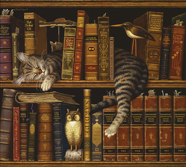 Charles Wysocki - Frederick the Literate -  ANNIVERSARY EDITION CANVAS Published by the Greenwich Workshop