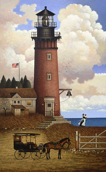 Charles Wysocki - Daddy´s Coming Home Personal Commission™ -  ANNIVERSARY EDITION CANVAS Published by the Greenwich Workshop