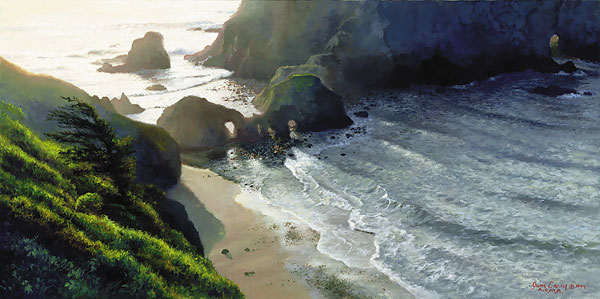 June Carey - GREENWOOD COVE -  LIMITED EDITION PRINT Published by the Greenwich Workshop