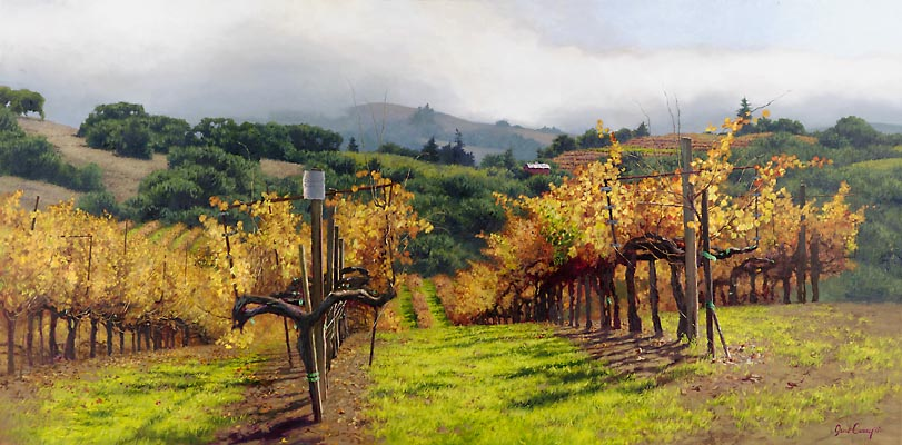 June Carey - FALL VINEYARD -  LIMITED EDITION PRINT Published by the Greenwich Workshop