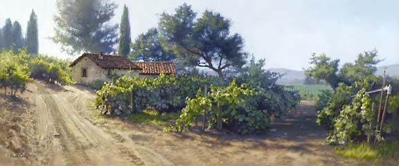 June Carey - MONTEREY VINEYARD -  LIMITED EDITION PRINT Published by the Greenwich Workshop