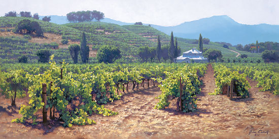 June Carey - Sonoma Valley Summer -  MASTERWORK CANVAS EDITION Published by the Greenwich Workshop