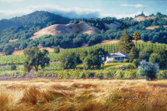 June Carey - Alexander Valley Winery -  LIMITED EDITION CANVAS Published by the Greenwich Workshop