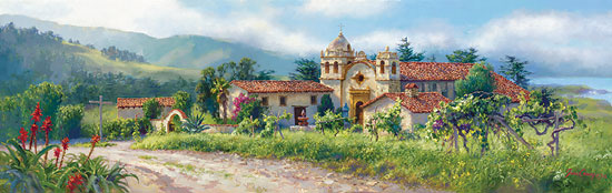 June Carey - The Padre´s Vineyard -  MASTERWORK CANVAS EDITION Published by the Greenwich Workshop