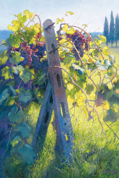 June Carey - Imported Vines -  LIMITED EDITION CANVAS Published by the Greenwich Workshop