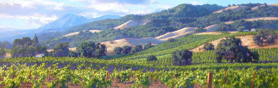 June Carey - Song of the Wine Country -  LIMITED EDITION CANVAS Published by the Greenwich Workshop
