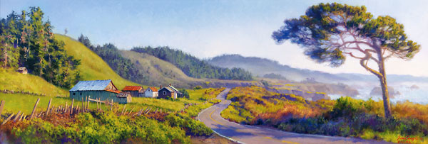 June Carey - Pacific Coast Highway -  MASTERWORK CANVAS EDITION Published by the Greenwich Workshop