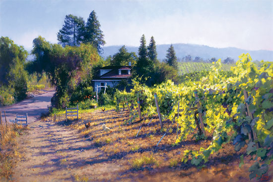 June Carey - My Sonoma -  LIMITED EDITION CANVAS Published by the Greenwich Workshop