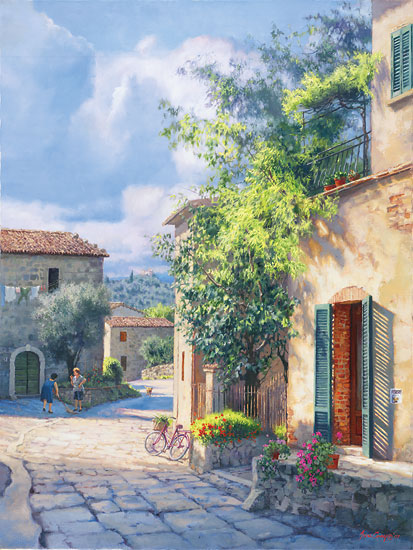 June Carey - Lost in Chianti -  MASTERWORK CANVAS EDITION Published by the Greenwich Workshop