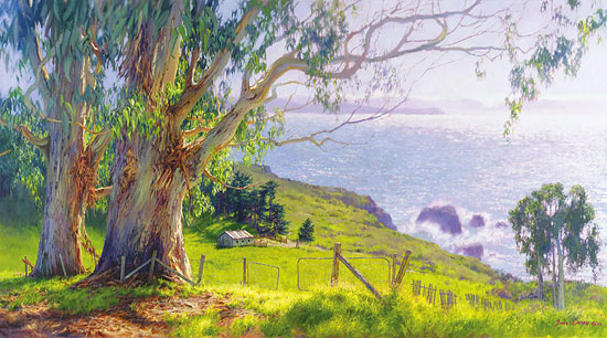 June Carey - The Eucalyptus Coast -  MASTERWORK CANVAS EDITION Published by the Greenwich Workshop