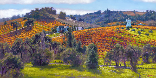 June Carey - Cabernet Sauvignon -  MASTERWORK EDITION CANVAS Published by the Greenwich Workshop