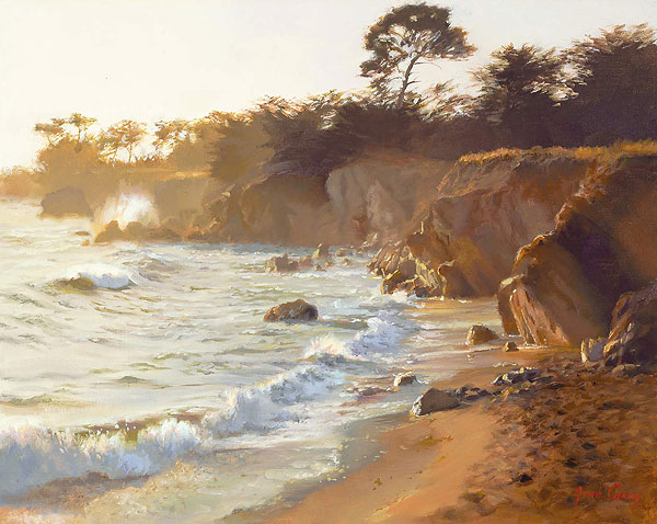 June Carey - Sundown at Sea Ranch -  LIMITED EDITION CANVAS Published by the Greenwich Workshop