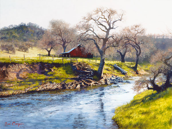 June Carey - Early Spring at Stony Creek -  LIMITED EDITION CANVAS Published by the Greenwich Workshop