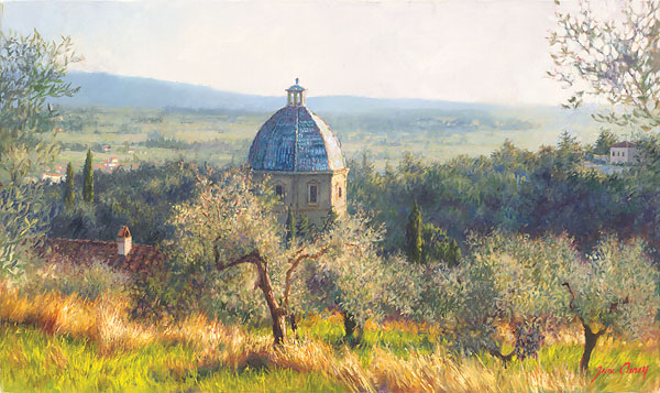 June Carey - Cortona November -  SMALLWORK CANVAS EDITION Published by the Greenwich Workshop