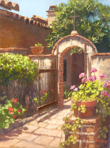 June Carey - Garden of the Bells -  SMALLWORK CANVAS EDITION Published by the Greenwich Workshop