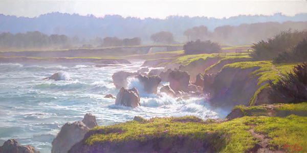 June Carey - Mendocino -  LIMITED EDITION CANVAS Published by the Greenwich Workshop